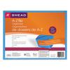 Smead Antimicrobial A-Z Expanding File, 21 Pockets, Letter, Blue