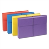 "2"" Exp Antimicrobial File Wallet, Legal, Four Colors, 4/Pack"