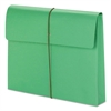 "Smead 2"" Exp Wallet with String, Letter, Green, 10/BX"