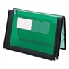 "2 1/4"" Exp Wallet, Poly, Letter, Translucent Green"