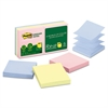 Recycled Pop-up Notes, 3 x 3, Assorted Helsinki Colors, 100-Sheet, 6/Pack