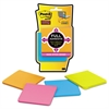 Full Adhesive Notes, 3 x 3, Assorted Rio de Janeiro Colors, 25-Sheet, 4/Pack