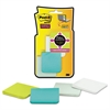 Post-it Full Adhesive Notes, 2 x 2, Assorted Bora Bora Colors, 25-Sheet, 8/Pack