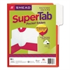SuperTab Two-Pocket Folder, 11 x 8 1/2, Red, 5/Pack