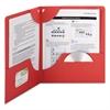 Smead Lockit Two-Pocket Folder, Textured Paper, 11 x 8 1/2, Red, 25/Box