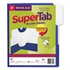 SuperTab Two-Pocket Folder, 11 x 8 1/2, Blue, 5/Pack