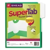 SuperTab Two-Pocket Folder, 11 x 8 1/2, Green, 5/Pack