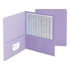 Smead Two-Pocket Folder, Textured Paper, Lavender, 25/Box