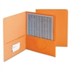Two-Pocket Folder, Textured Paper, Orange, 25/Box