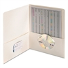 Two-Pocket Folder, Textured Paper, White, 25/Box