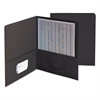 Smead Two-Pocket Folder, Textured Paper, Black, 25/Box