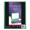 Organized Up Stackit Folder, Textured Stock, 11 x 8 1/2, Green, 10/Pack