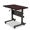 BALT Flipper Training Table, Rectangular, 36w x 24d x 29-1/2h, Mahogany/Black