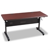 Flipper Training Table Top, Rectangular, 60w x 24d, Mahogany