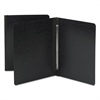 Side Opening Pressboard Report Cover, Prong Fastener, Letter, Black