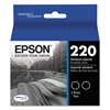 Epson T220120D2 (220) DURABrite Ultra Ink, Black, 2/PK