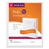 Smead Poly String & Button Booklet Envelope, 11 5/8 x 9 3/4 x 1 1/4, Clear, 5/Pack