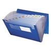 Smead Expanding File, 12 Pockets, Letter, Blue/Clear