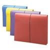 "Smead 2"" Exp Antimicrobial File Wallet, Letter, Four Colors, 4/Pack"