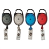 "Advantus Carabiner-Style Retractable ID Card Reel, 30"" Extension, Assorted, 20/Pack"