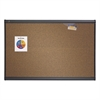 Prestige Bulletin Board, Brown Graphite-Blend Surface, 36 x 24, Aluminum Frame