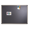 Quartet Euro-Style Bulletin Board, High-Density Foam, 72 x 48, Black/Aluminum Frame