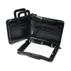 "Bond Street Leather Multi-Ring Zippered Portfolio, 1-1/2"" Capacity, 14-1/4 x 10-1/2, Black"