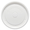 "Polystyrene Food Container Lids, White, 4.6"" Diameter, 50/Bag, 20 Bags/Carton"