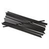 "Boardwalk Unwrapped Single-Tube Stir-Straws, 5 1/4"", Black, 1000/Pack, 10/Carton"