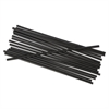 "Unwrapped Single-Tube Stir-Straws, 5 1/4"", Black, 1000/Pack"