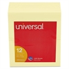 Universal Standard Self-Stick Notes, 3 x 5, Yellow, 100-Sheet, 12/Pack