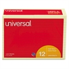 Universal Standard Self-Stick Notes, Lined, 4 x 6, Yellow, 100-Sheet, 12/Pack