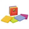 Post-it Pads in Marrakesh Colors, 3 x 3, 90-Sheet, 5/Pack