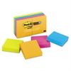 Post-it Pads in Rio de Janeiro Colors, 2 x 2, 90-Sheet, 8/Pack