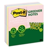 Post-it Recycled Note Pads, 3 x 3, Assorted Helsinki Colors, 100-Sheet, 24/Pack