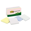 Recycled Note Pads, 3 x 3, Assorted Helsinki Colors, 100-Sheet, 12/Pack