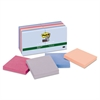 Post-it Recycled Notes in Bali Colors, 3 x 3, 90-Sheet, 12/Pack