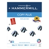Hammermill Copy Plus Copy Paper, 3-Hole Punch, 92 Brightness, 20lb, Ltr, White, 500 Shts/Rm