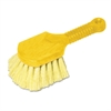 "Rubbermaid Commercial Long Handle Scrub, 8"" Plastic Handle, Yellow Handle w/Yellow Bristles"