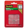 "Scotch Permanent Heavy-Duty Mounting Squares for Fabric Walls, 7/10"" x 17/25"", 24/Pack"