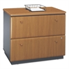 Bush Series A Collection 36W Two-Drawer Lateral File (Assembled), Natural Cherry