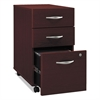 Bush Series C Collection Three-Drawer Mobile Pedestal (Assembled), Mahogany