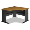 Bush Series A Collection 48W Corner Desk, Natural Cherry