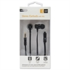 Case Logic 800 Series Earbuds w/Microphone, Black, 4 ft Cord