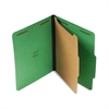 Pressboard Folder, Letter, Four-Section, Emerald Green, 10/Box