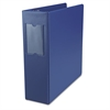 "Economy Non-View Round Ring Binder With Label Holder, 3"" Capacity, Royal Blue"