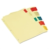 Economical Insertable Index, Multicolor Tabs, 5-Tab, Letter, Buff, 6 Sets/Pack