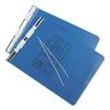 Universal Pressboard Hanging Data Binder, 9-1/2 x 11, Unburst Sheets, Blue