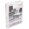 "Economy Round Ring View Binder, 1/2"" Capacity, White, 6/Pack"