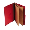 Universal Pressboard Classification Folders, Legal, Six-Section, Ruby Red, 10/Box